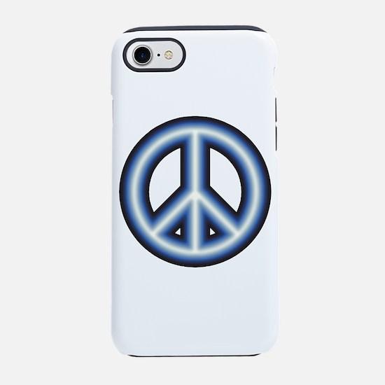 Blue Peace Symbol iPhone 7 Tough Case