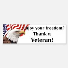 Thank a Veteran Bumper Bumper Bumper Sticker