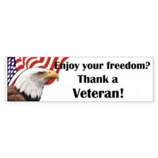 Thank a Veteran Bumper Bumper Sticker