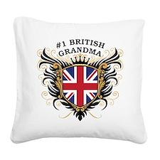 n1_british_grandma.png Square Canvas Pillow