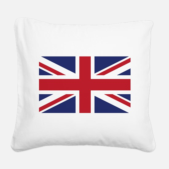 Flag of the United Kingdom Square Canvas Pillow