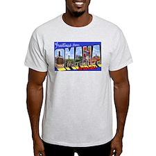 Omaha Nebraska Greetings Ash Grey T-Shirt