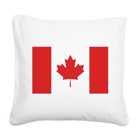 flag_canada.png Square Canvas Pillow