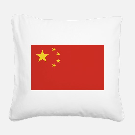 flag_china.png Square Canvas Pillow