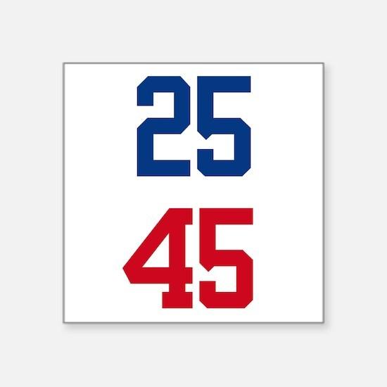"25th Amendment Trump Square Sticker 3"" x 3"""