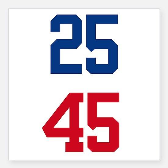 """25th Amendment Trump Square Car Magnet 3"""" x 3"""""""