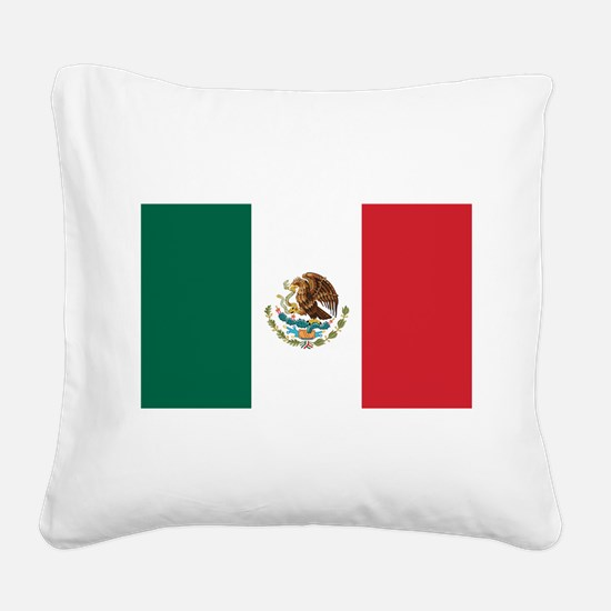 flag_mexico.png Square Canvas Pillow