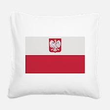 flag_poland.png Square Canvas Pillow