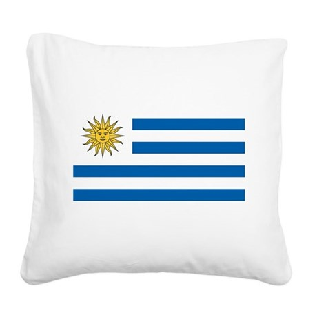 Flag of Uruguay Square Canvas Pillow