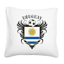 Uruguay Football Square Canvas Pillow