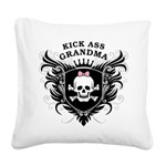 Kick Ass Grandma Square Canvas Pillow