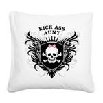Kick Ass Aunt Square Canvas Pillow