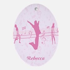 Personalized Music Dance and Drama Pink Ornament (
