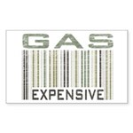 Gas Expensive Political Statement Sticker (Rectang