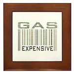Gas Expensive Political Statement Framed Tile