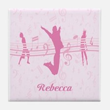 Personalized Music Dance and Drama Pink Tile Coast