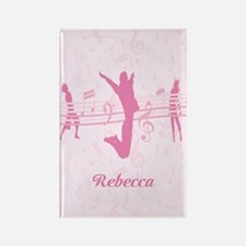 Personalized Music Dance and Drama Pink Rectangle