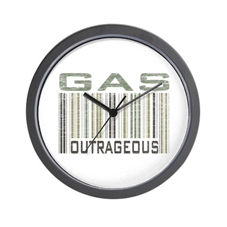 Gas Outrageous Political Statement Wall Clock By Solopress