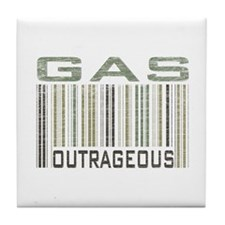 Gas Outrageous Political Statement Tile Coaster
