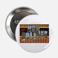 New Orleans Louisiana Greetings Button