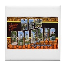New Orleans Louisiana Greetings Tile Coaster