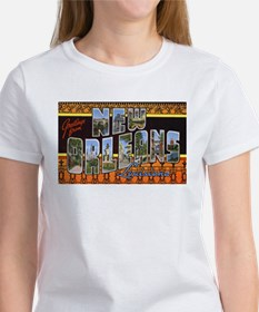 New Orleans Louisiana Greetings (Front) Tee