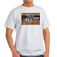 New Orleans Louisiana Greetings Ash Grey T-Shirt