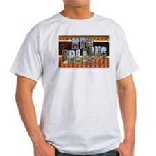 New Orleans Louisiana Greetings (Front) Ash Grey T