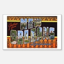 New Orleans Louisiana Greetings Sticker (Rectangul