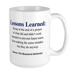 Left-handed Lessons Learned Large Mug