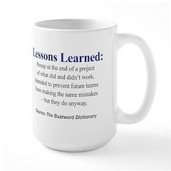 Left-handed Lessons Learned Mug