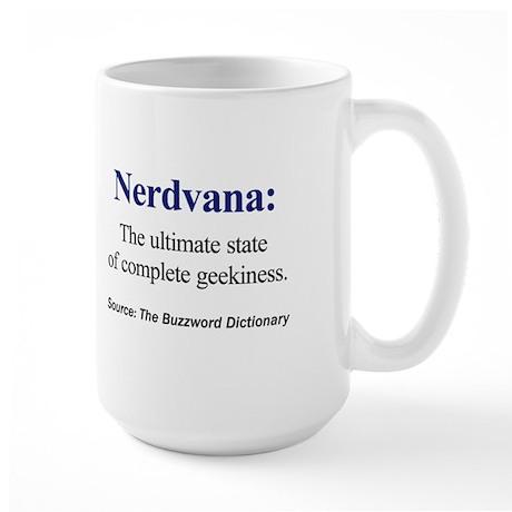 Left-handed Nerdvana Large Mug