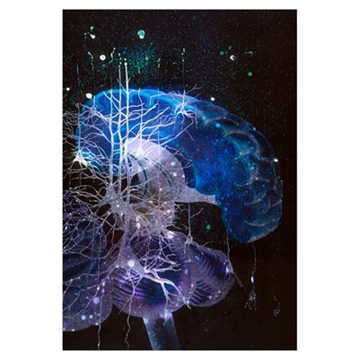 Conceptual art of brain Canvas Art