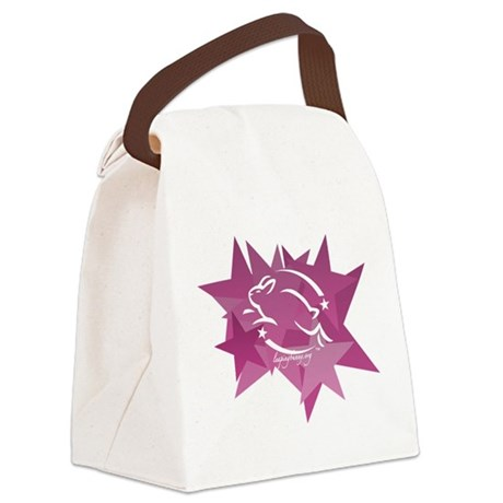 Leaping Bunny Stars Canvas Lunch Bag