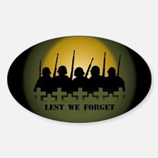 Lest We Forget War Memorial Decal