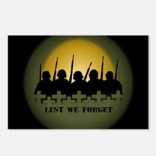 Lest We Forget War Memori Postcards (Package of 8)
