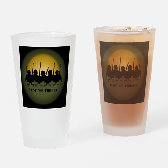 Lest We Forget War Memorial Drinking Glass