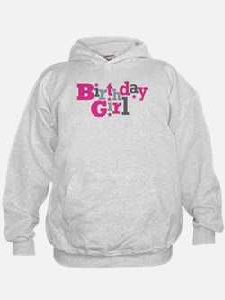 Pink Birthday Girl Star Hoodie