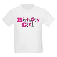 Pink Birthday Girl Star T-Shirt