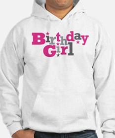 Pink Birthday Girl Star Hoodie
