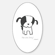 Panda Dog Oval Decal