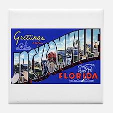 Jacksonville Florida Greetings Tile Coaster