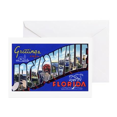 Jacksonville Florida Greetings Greeting Cards (Pac