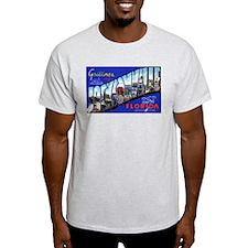 Jacksonville Florida Greetings Ash Grey T-Shirt