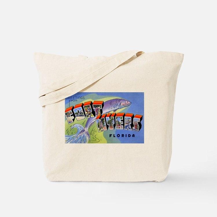 Fort Myers Florida Greetings Tote Bag