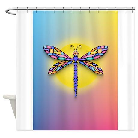 Dragonfly1  Sun Shower Curtain by heartbridge # Sun Shower Eli_082440