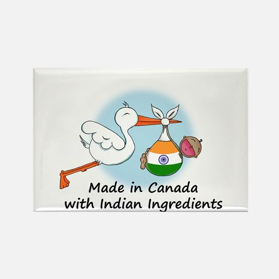 Stork Baby India Canada Rectangle Magnet
