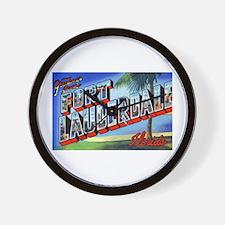 Fort Lauderdale Florida Greetings Wall Clock