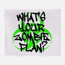 Whats Your Zombie Plan? Throw Blanket