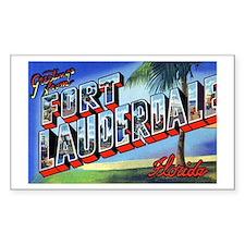 Fort Lauderdale Florida Greetings Decal